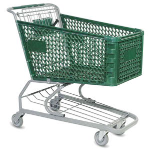 used plastic shopping cart